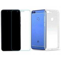 Silikonski etui, prozoren+ zaščitno steklo za Huawei P Smart