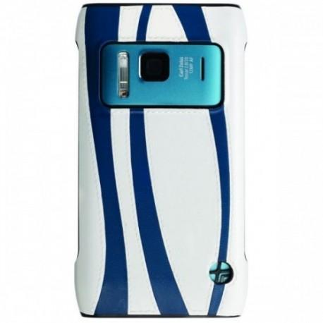 Etui za Nokia N8 zadnji pokrovček, belo modra