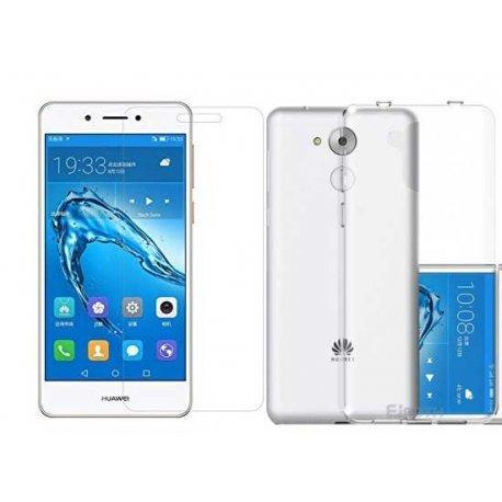 Silikonski etui, prozoren+ zaščitno steklo za Huawei Nova Smart