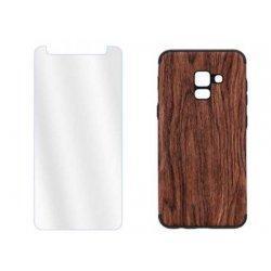 "Etui ""Wood"" +zaščitno steklo za Samsung Galaxy A8 2018"