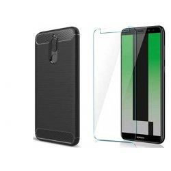 "Etui ""Carbon Case"" +zaščitno steklo za Huawei Mate 10 Lite"