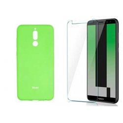 Silikonski etui Roar, zelena+ zaščitno steklo za Huawei Mate 10 Lite