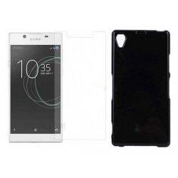 """Silikonski etui """"Jelly"""" črna +zaščitno steklo za Sony Xperia L1"""