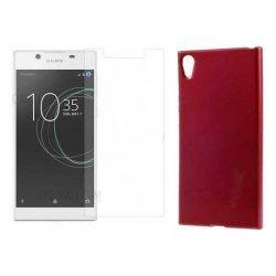 """Silikonski etui """"Jelly"""" rdeča +zaščitno steklo za Sony Xperia L1"""