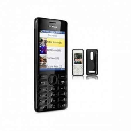 Silikon etui za Nokia 206 +Folija Gratis , Črna barva