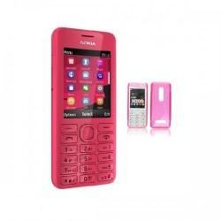 Silikon etui za Nokia 206 +Folija Gratis , Pink barva