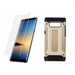 "Etui ""Armor"" +zaščitno steklo za Samsung Galaxy Note 8, zlata barva"