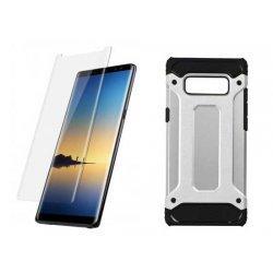 """Etui """"Armor"""" +zaščitno steklo za Samsung Galaxy Note 8, srebrna barva"""