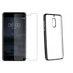 """Etui """"Electro Jelly"""" črn +zaščitno steklo za Nokia 6"""