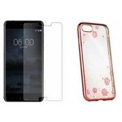 """Etui """"Diamond Case"""" pink +zaščitno steklo za Nokia 6"""