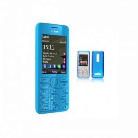 Silikon etui za Nokia 206 +Folija Gratis , Modra barva