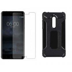 """Etui """"Armor"""" +zaščitno steklo za Nokia 6, črna barva"""