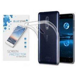 Silikonski etui, prozoren +zaščitna folija zaslona za Nokia 5