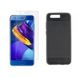 """Etui """"Carbon Case"""" +zaščitno steklo za Huawei Honor 9"""