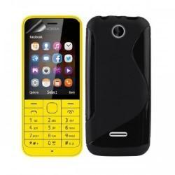 Silikon etui za Nokia 225 +Folija ekrana ,Črna barva