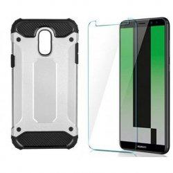 "Etui ""Armor"" +zaščitno steklo za Huawei Mate 10 Lite, srebrna barva"