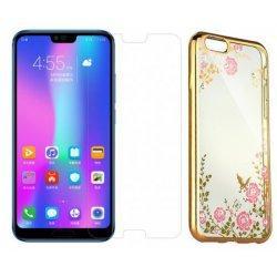 """Etui """"Diamond Case"""" zlat +zaščitno steklo za Huawei Honor 10"""