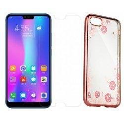 "Etui ""Diamond Case"" pink +zaščitno steklo za Huawei Honor 10"
