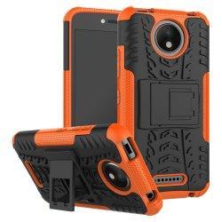 "Etui ""Dual Armor"" za Motorola Moto C, oranžna barva"