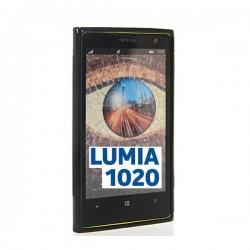 Silikon etui za Nokia Lumia 1020 +Folija Gratis , Črna barva
