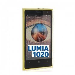 Silikon etui za Nokia Lumia 1020 +Folija Gratis , Rumena barva