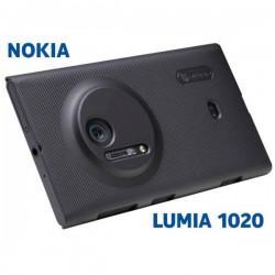 Etui za Nokia Lumia 1020 zadnji pokrovček + folija ekrana ,Črna barva