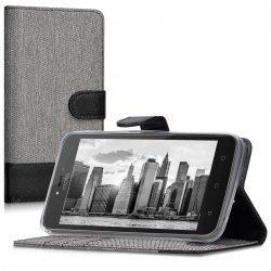 "Preklopna Torbica ""Fancy Plus"" za Motorola Moto C Plus, Črna barva"