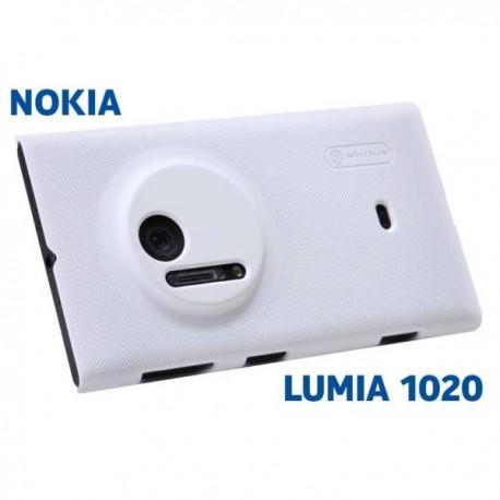 Etui za Nokia Lumia 1020 zadnji pokrovček + folija ekrana ,Bela barva