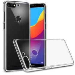 Silikonski etui, prozoren+ zaščitno steklo za Huawei Y7 Prime 2018