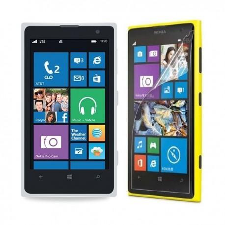 Silikon etui za Nokia Lumia 1020 +Folija ekrana, bela mat
