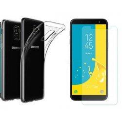 Silikonski etui, prozoren+ zaščitno steklo za Samsung Galaxy J6 2018