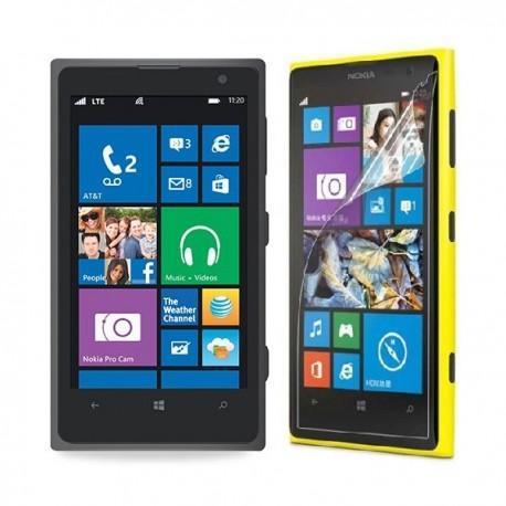 Silikon etui za Nokia Lumia 1020 +Folija ekrana, prosojno temna