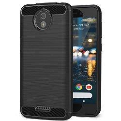 """Etui """"Carbon Case"""" za Motorola Moto C, črna barva"""