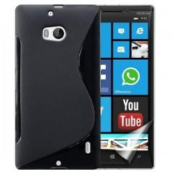 Silikon etui  za Nokia Lumia 930 +Folija ekrana Črna barva