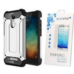 """Etui """"Armor"""" +zaščitno steklo za Xiaomi Redmi Note 4, srebrna barva"""