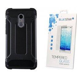 """Etui """"Armor"""" +zaščitno steklo za Xiaomi Redmi Note 4, črna barva"""