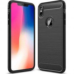 "Etui ""Carbon Case"" za Apple iPhone XS, črna barva"