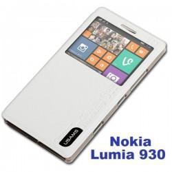 Torbica za Nokia Lumia 930 Preklopna S-View Bela barva