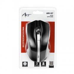 ART AM-97D brezžična miška v črni barvi