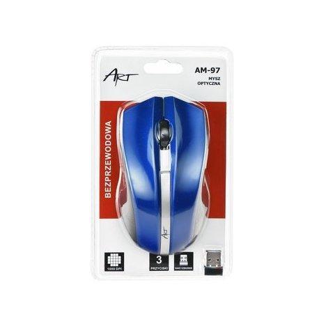 ART AM-97D brezžična miška v modri barvi