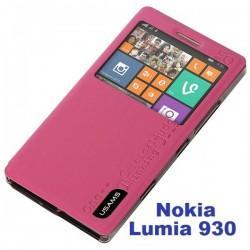 Torbica za Nokia Lumia 930 Preklopna S-View Pink barva