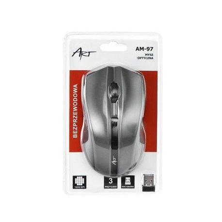 ART AM-97D brezžična miška v sivi barvi