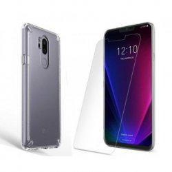 Etui Ringke FUSION Crystal Clear in zaščitno steklo za LG G7 ThinQ