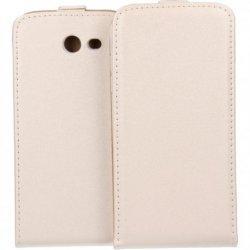 "Preklopna torbica, etui ""flexi"", bela barva - Samsung Galaxy J3 Emerge"