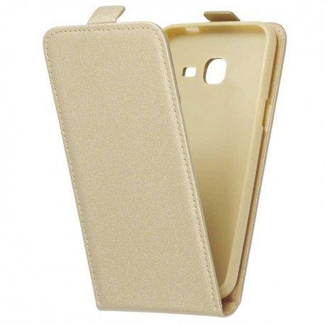 "Preklopna torbica, etui ""flexi"", zlata barva - Samsung Galaxy J3 Emerge"