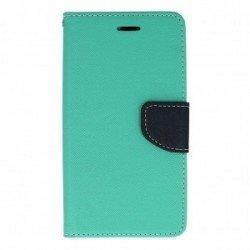 "Preklopna torbica, etui ""Fancy"" za Samsung Galaxy J3 Emerge, mint barva"