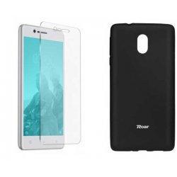 Silikonski etui Roar, črna+ zaščitno steklo za Nokia 3