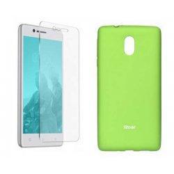 Silikonski etui Roar, zelena+ zaščitno steklo za Nokia 3