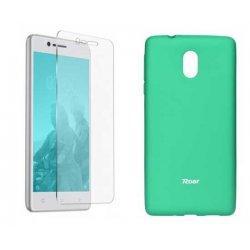 Silikonski etui Roar, mint+ zaščitno steklo za Nokia 3