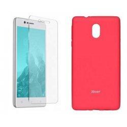 Silikonski etui Roar, pink+ zaščitno steklo za Nokia 3